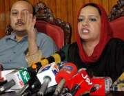 راولپنڈی: پی پی پی کی این اے62سے امیدوار سمیرا گل پریس کانفرنس کر رہی ..
