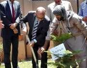 اسلام آباد: وزیراعظم کے مشیر عرفان صدیقی نیشنل بک فاؤنڈیشن کے گراؤنڈ ..