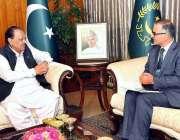 اسلام آباد: صدر مملکت ممنون حسین سے وائس چانسلر بلتستان یونیورسٹی پروفیسرڈاکٹر ..