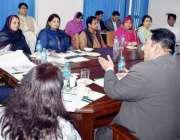 لاہور: نگران صوبائی وزیر فیصل مشتاق محکمہ بہبود آبادی میں اہم اجلاس ..