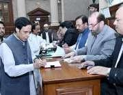 لاہور: سپیکر چودھری پرویزالٰہی پنجاب اسمبلی میں سینیٹ انتخابات کے ..