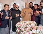 اسلام آباد: صدر آزاد جموں و کشمیر سردار مسعود خان، وزیر اعظم راجہ محمد ..