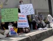 راولپنڈی: آل پاکستان فوجی فاؤنڈیشن ٹیچر ایسوسی ایشن کے زیر اہتمام مطالبات ..