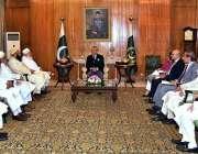 اسلام آباد: صدر مملکت ڈاکٹر عارف علوی سے شیخ ممیل یونس کی قیادت میں ..