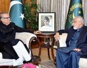 اسلام آباد: صدر مملکت ڈاکٹر عارف علوی سے رکن قومی اسمبلی نجیب ہارون ..