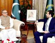 اسلام آباد: صدر مملکت ڈاکٹر عارف علوی سے چیئرمین پاکستان سٹاک ایکسچینج ..