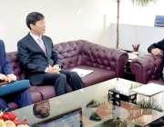 اسلام آباد وفاقی وزیر صاحبزادہ یعقوب سلطان سے کوریا کے سفیر ملاقات ..