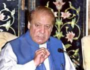 اسلام آباد: سابق وزیراعظم محمد نواز شریف پریس کانفرنس سے خطاب کر رہے ..