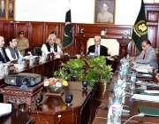 پشاور: نگران وزیراعظم جسٹس (ر) ناصر الملک گورنر ہاؤس میں اعلیٰ سطحی ..