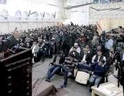 لاہور: امیر جماعت اسلامی سینیٹر سراج الحق منصورہ میں نیشنل ایسوسی ایشن ..