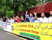 اسلام آباد: گورنر آل پارٹیز حریت کانفرنس غلام احمد صوفی کی قیادت میں ..