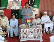 اٹک: پی پی کے صوبائی امیدوار عرفان خان کارنر میٹنگ سے خطاب کر رہے ہیں۔