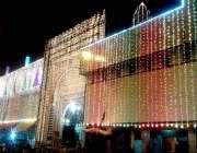 سرگودھا: شب بارات کے موقع پر ایک مسجد کے خوبصورت لائٹوں سے سجایا گیا ..