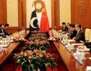 بیجنگ: وزیر خارجہ مخدوم شاہ محمد قریشی چینی وزیر خارجہ وانگ ژی کے ہمراہ ..