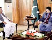 اسلام آباد: قائمقام صدر محمد صادق سنجرانی سے سینیٹر نصیب اللہ بازئی ..