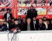لاہور: عوامی تحریک کے سربراہ ڈاکٹر محمد طاہرالقادری آل پارٹیز ایکشن ..