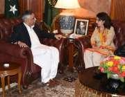 کراچی: گورنر سندھ محمد زبیر نگران وفاقی وزیر ریلویز رشن خورشید بروچہ ..