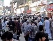 راولپنڈی: تھانہ وارث کی حدود مں ی دکاندار کے قتل کیخلاف تاجر احتجاج ..