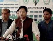 اسلام آباد: تحریک انصاف کے رکن قومی اسمبلی میاں فرخ حبیب پارلیمنٹ کے ..