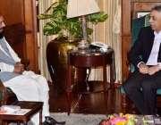 کراچی: گورنر سندھ محمد زبیر گورنر ہاؤس میں اسلامی نظریاتی کونسل کے ..