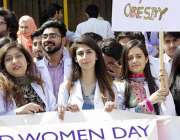 اسلام آباد: عالمی یوم نسواں اور ورلڈ کڈنی ڈے کے موقع پر اسلام آباد میڈیکل ..