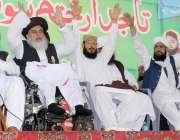 لاہور: تحریک لبیک کے زیر اہتمام داتا دربار کے باہر دھرنے میں خادم حسین ..
