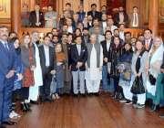 لاہور: گورنر پنجاب چوہدری محمد سرورکا20ویں انٹر نیشنل سکیورٹی ورکشاپ ..