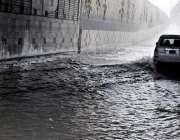 راولپنڈی: منگل کی صبح ہونے والی بارش کے بعد کمیٹی چوک انڈر پاس میں پانی ..