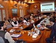 گلگت: وزیر مملکت شہریار آفریدی اعلیٰ سطحی اجلاس کی صدارت کررہے ہیں۔