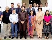 لاہور: صوبائی وزیر اطلاعات فیاض الحسن چوہان کا سیکرٹری اطلاعات بلال ..