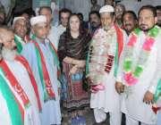 لاہور: تحریک انصاف کی مرکزی رہنما م مسرت جمشید چیمہ کا حلقہ این اے127میں ..
