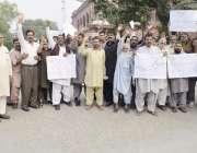 لاہور: کینٹ ریلوے اسٹیشن کے دکاندار ریلوے ہیڈ کوارٹر کے باہر احتجاج ..
