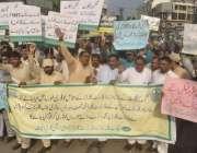 لاہور: پنجاب فاریسٹر اینڈ فاریسٹ گارڈز ایسوسی ایشن کے زیر اہتمام پریس ..