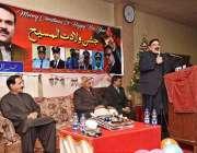 راولپنڈی: وفاقی وزیر ریلوے شیخ رشید احمد کرسمس کے حوالے سے منعقدہ تقریب ..