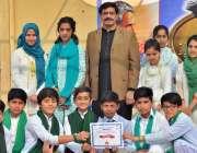 راولپنڈی: الائیڈ سکول مورگاہ میں یوم اقبال کے موقع پر پرنسپل فیصل جنجوعہ ..