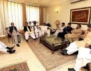 لاہور:مسلم لیگ (ق) کے صدر چوہدری شجاعت حسین کی زیر صدارت4جماعتی اتحاد ..