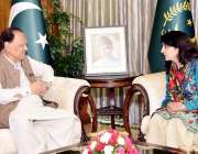 اسلام آباد: صدر ممنون حسین سے نگران وفاقی وزیر امور کشمیر بلتستان مسز ..