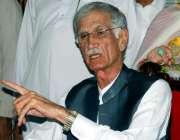 اسلام آباد: وزیر اعلیٰ خیبر پختونخوا پرویز خٹک پریس کانفرنس سے خطاب ..