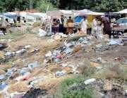 اسلام آباد: ضیاء مسجد سٹاپ کنارے پڑے کوڑے کرکٹ سے مختلف امراض پھیلنے ..