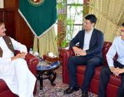 پشاور: قائمقام گورنر خیبر پختونخوا مشتاق غنی سے چینی قونصلر چن وئی ..