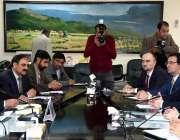 اسلام آباد: وفاقی وزیر نیشنل فوڈ اینڈ ریسرچ صاحبزدہ محمد محبوب سلطان ..