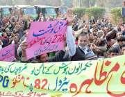 لاہور: وحدت روڈ پر عوامی رکشہ یونین پاکستان کے زیر اہتمام مطالبات کے ..