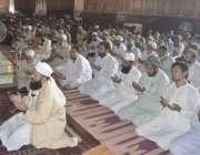 لاہور: بادشاہی مسجد کے خطیب مولانا سید عبدالخبیر آزاد نماز جمعہ کی ..