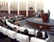 لاہور: صدر مملکت ڈاکٹر عارف علوی نیوی وار کالج میں2ndمیری ٹائم سکیورٹی ..