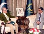 اسلام آباد:صدر مملکت ڈاکٹر عارف علوی سے وفاقی محتسب سید طاہر شہباز ..