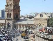 کراچی: کراچی میٹرو پولیٹن کارپوریشن کے زیر اہتمام ایمپریس مارکیٹ میں ..