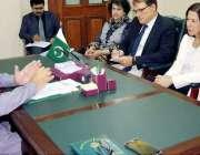 لاہور: صوبائی وزیر مال ملک محمد انور ورلڈ بینک کے نمائندگان سے ملاقات ..