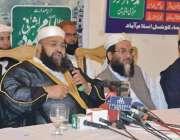 لاہور: چیئرمین پاکستان علماء کونسل حافظ طاہر محمود اشرفی ندائے امد ..