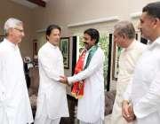 اسلام آباد: پی پی124چینیوٹ سے جیتنے والے آزاد رکن اسمبلی رائے تیمور بھٹی ..