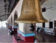 راولپنڈی: ریلوے اسٹیشن پر لگائیگ ئی قدیمی گھنٹی اسٹیشن کا خوبصورت منظر ..